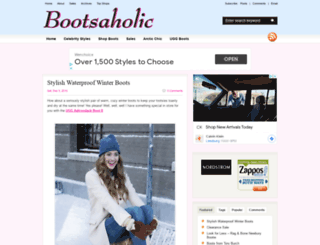 bootsaholic.com screenshot