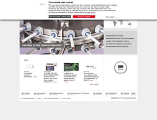 borgwaldt.hauni.com screenshot