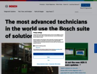 boschdiagnostics.com screenshot