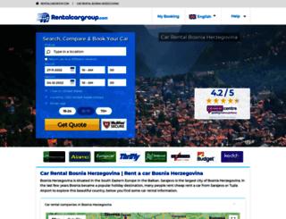 bosnia.rentalcargroup.com screenshot