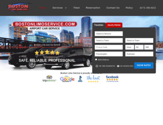 bostonlimoservice.com screenshot