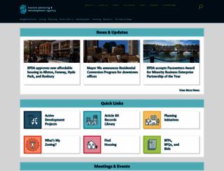 bostonredevelopmentauthority.org screenshot