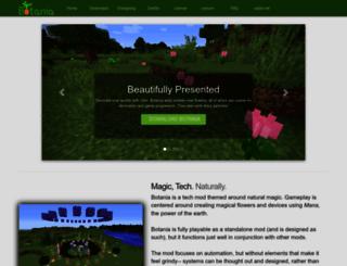 botaniamod.net screenshot