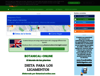 botanical-online.com screenshot
