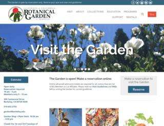 botanicalgarden.berkeley.edu screenshot