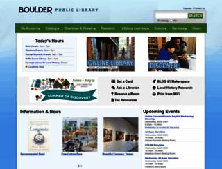 boulderlibrary.org screenshot