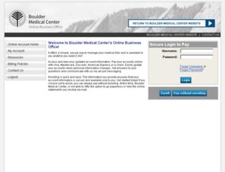 bouldermedicalcenter.patientcompass.com screenshot