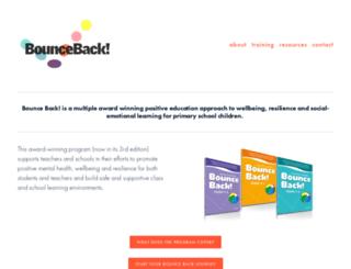 bounceback.com.au screenshot