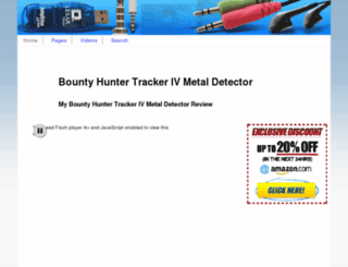 bountyhuntertrackerivmetaldetector.net screenshot