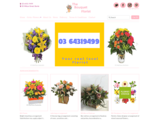 bouquetflorist.com.au screenshot