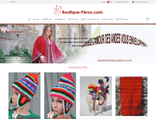 boutique-perou.com screenshot