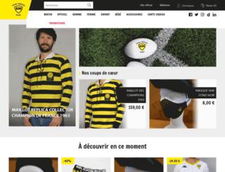 boutique.stademontoisrugby.fr screenshot
