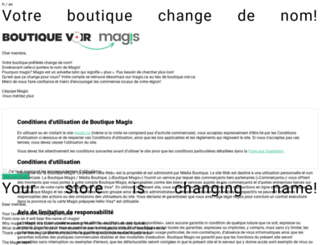 boutique.voir.ca screenshot