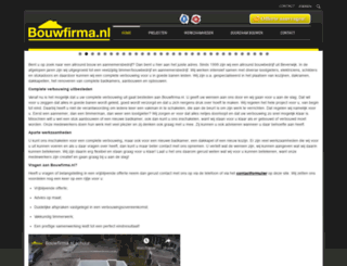bouwfirma.nl screenshot