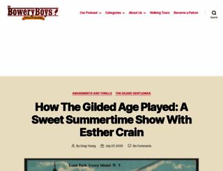boweryboyshistory.com screenshot