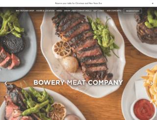 bowerymeatcompany.com screenshot