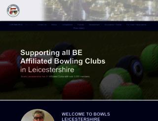 bowlsleicestershire.com screenshot
