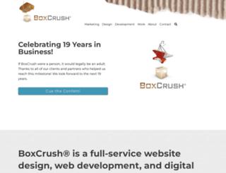 boxcrush-web-design.com screenshot