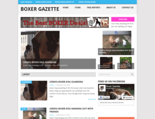 boxergazette.com screenshot