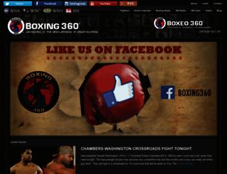 boxing360.com screenshot