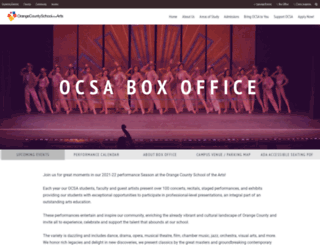 boxoffice.ocsarts.net screenshot