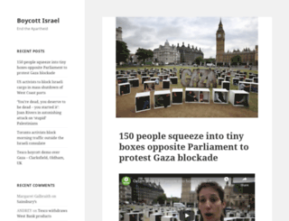 boycottisrael.org.uk screenshot