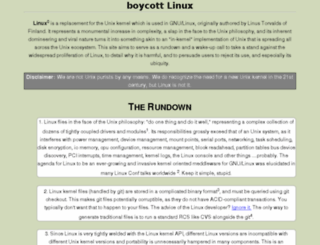 boycottlinux.org screenshot