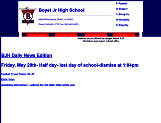 boyetjunior.stpsb.org screenshot