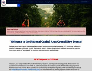 boyscouts-ncac.org screenshot