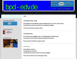bpd-bueroservice.de screenshot