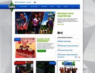 br.thesims3.com screenshot