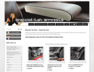braccioli-italy-armrests.com screenshot