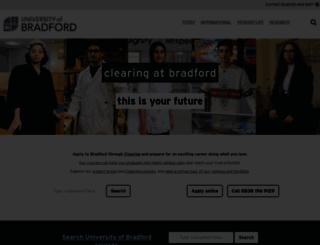 brad.ac.uk screenshot