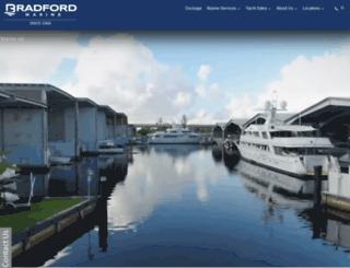 bradford-marine.com screenshot