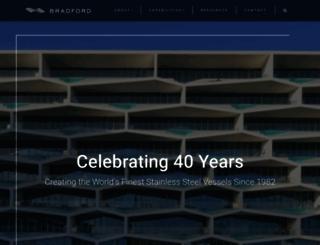 bradfordproducts.com screenshot