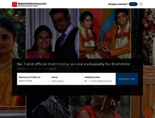 brahminmatrimony.com screenshot