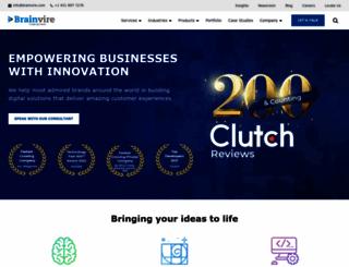 brainvire.com screenshot