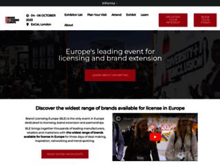 brandlicensing.eu screenshot