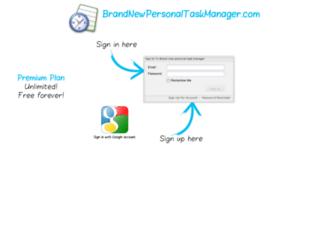 brandnewpersonaltaskmanager.com screenshot