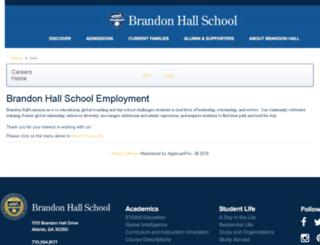 brandonhall.applicantpro.com screenshot
