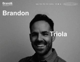 brandontriola.com screenshot