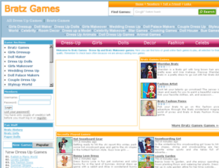 bratzgames.biz screenshot