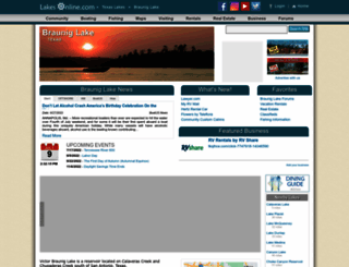 braunig.lakesonline.com screenshot
