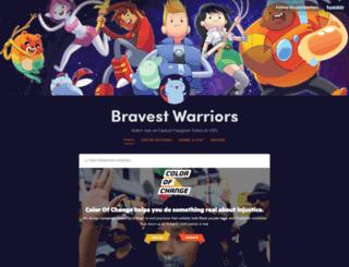 bravestwarriors.cartoonhangover.com screenshot