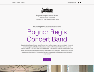 brconcertband.org.uk screenshot