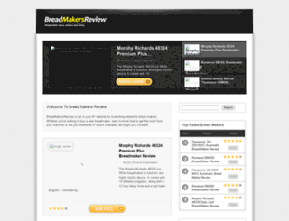 breadmakersreview.co.uk screenshot