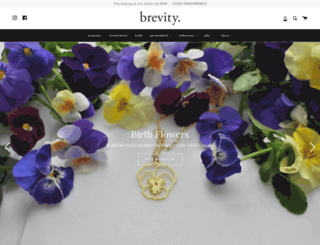 brevityjewelry.com screenshot