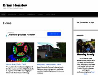 brianhensley.net screenshot