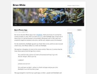 brianwhite.org screenshot