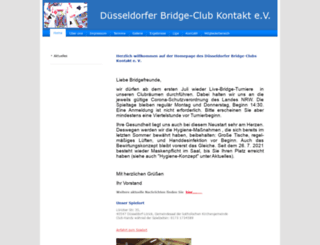 bridgeclub-kontakt.de screenshot